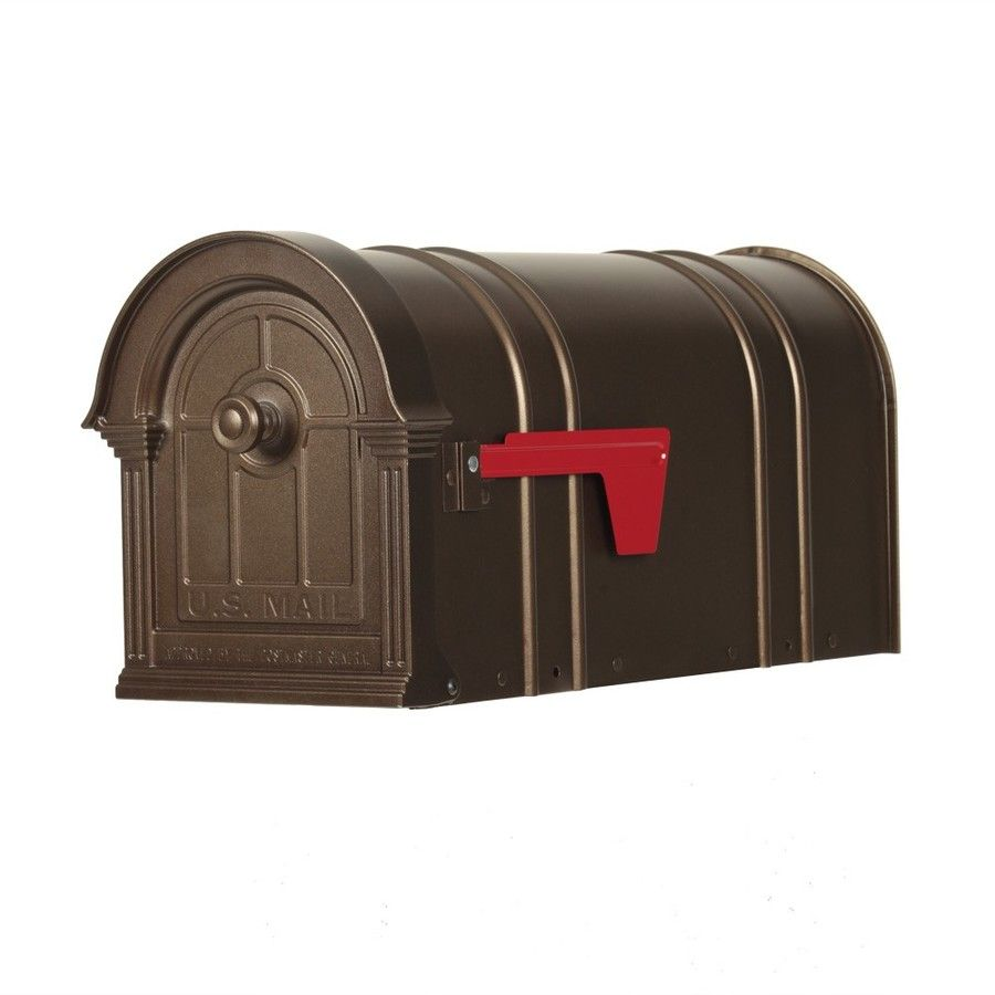 Postal Pro The Manchester 9 875 In W X 11 In H Metal Bronze Post Mount Mailbox Pp151sbr In 2020 Mounted Mailbox Post Mount Metal Mailbox