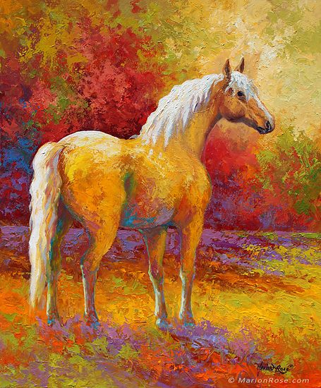 Palomino Mare by Marion Rose Acrylic ~ 24 x 20