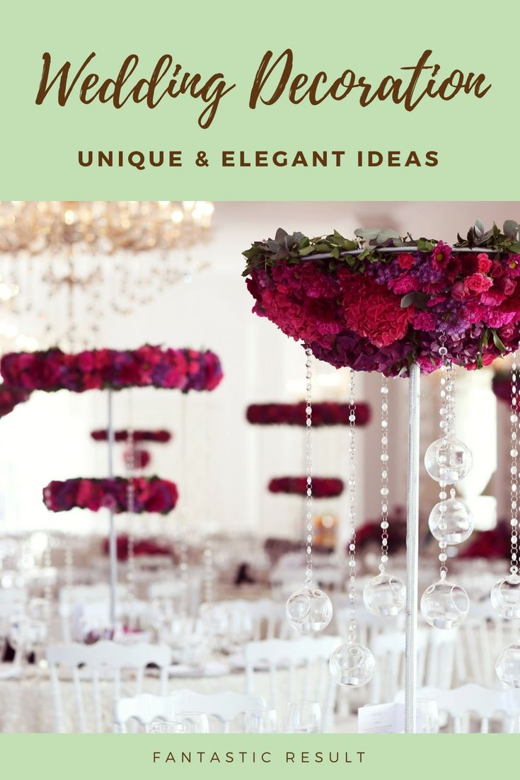 Dress Up Your Own Personal Wedding Celebration Decorations By Using