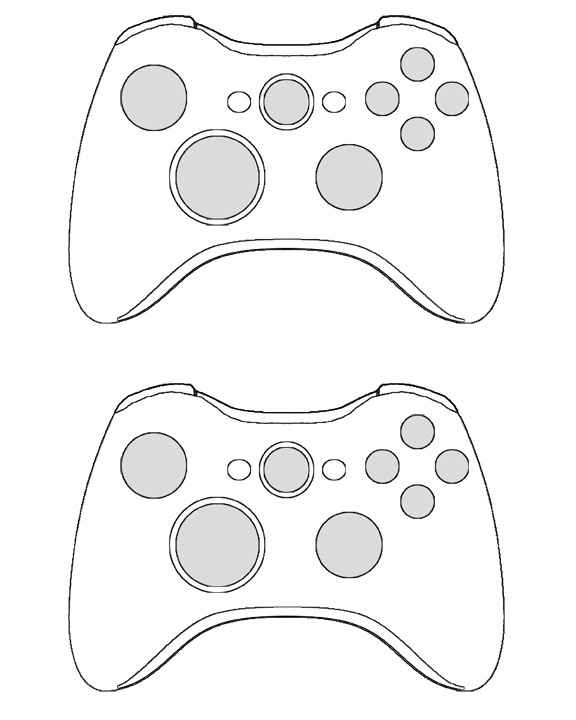 360 Controller Template By D Shade On Deviantart Birthday Card Template Xbox Party Birthday Cards For Boys