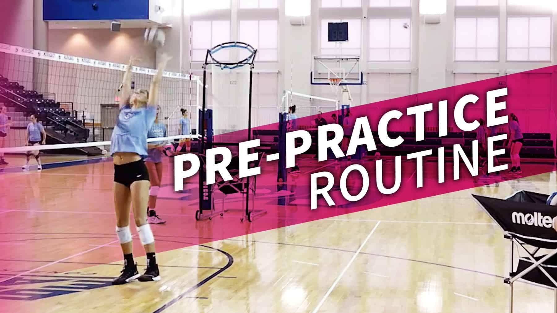 Creighton S Pre Practice Routine Coaching Volleyball Volleyball Skills Volleyball Drills
