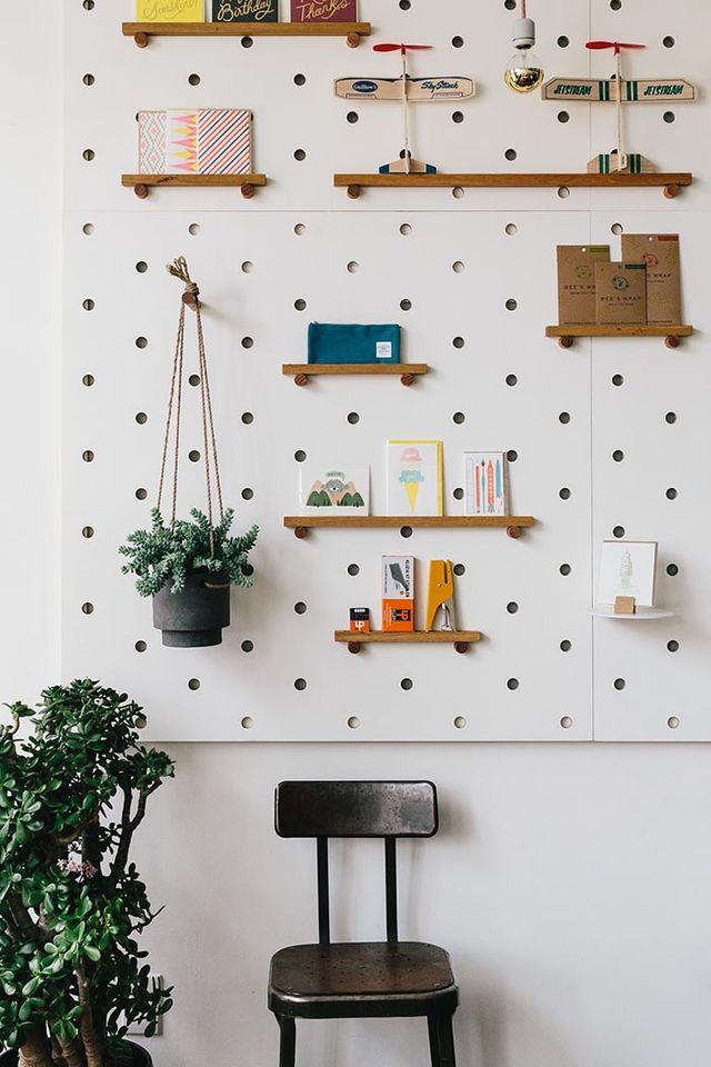 Pegboard Storage For Minimalist Office Organisation Pegboard Storage Peg Board Walls Peg Board