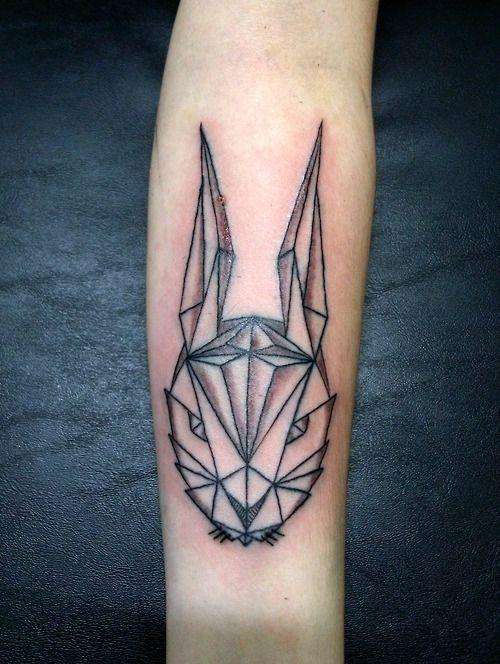 little rabbit geometric tattoo fb amanda snelson snelson anderson. Black Bedroom Furniture Sets. Home Design Ideas