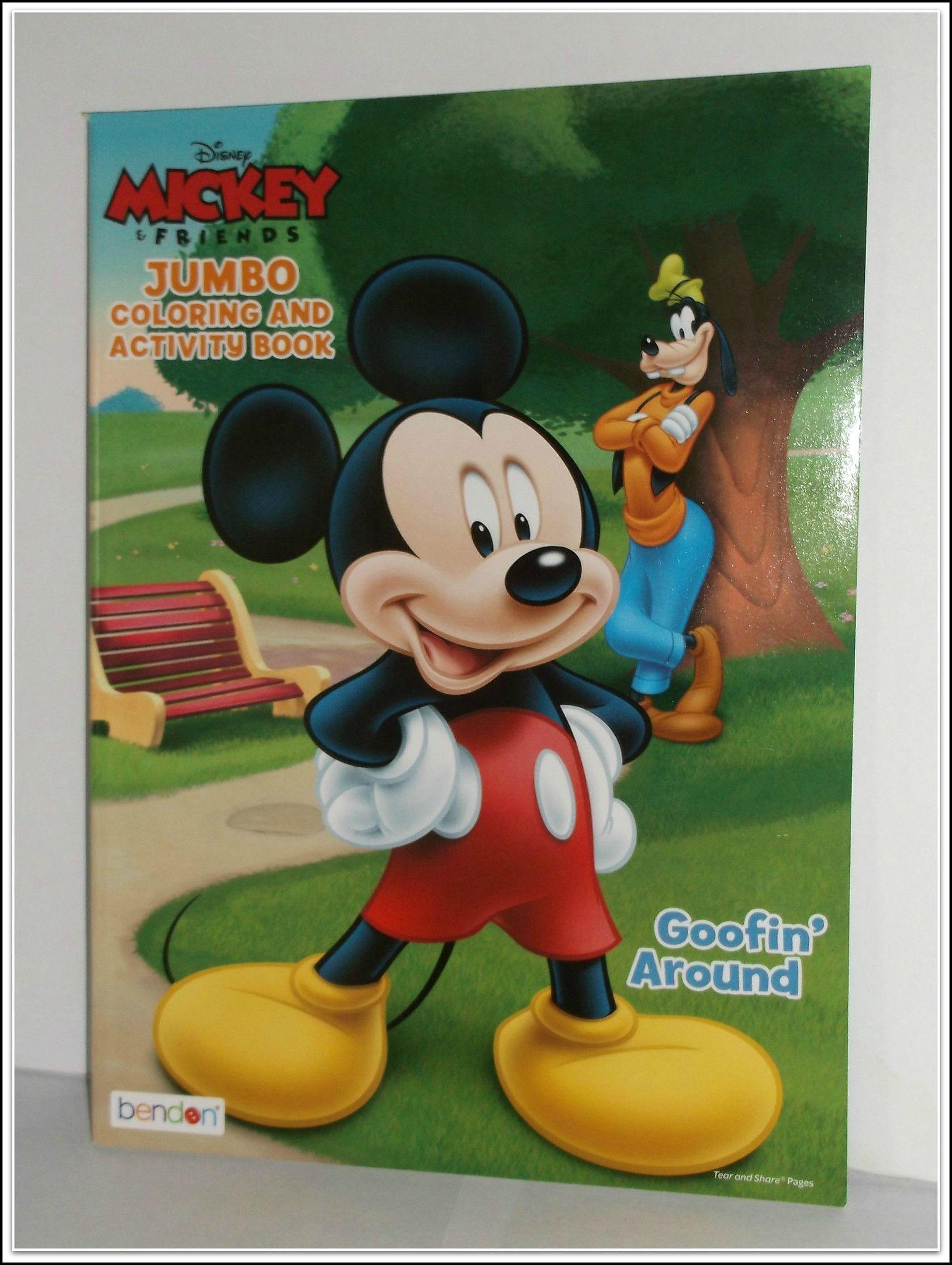 Kids Coloring Book Disney Mickey Friends JUMBO And Activity Box Crayola Crayons