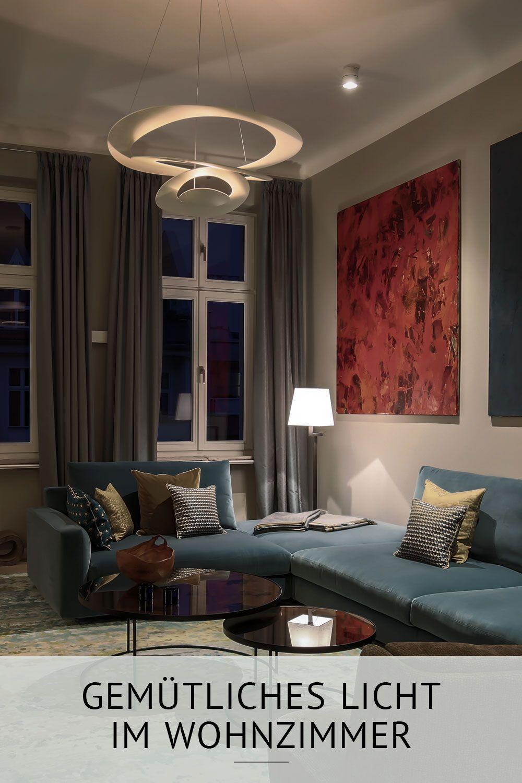 Licht im Wohnzimmer: So entsteht richtige Wohnfühlatmosphäre