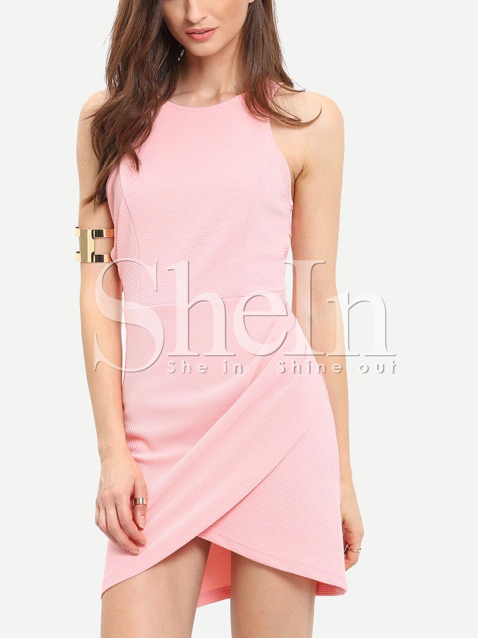 Vestido sin manga entallado -rosa   Pinterest   Vestiditos