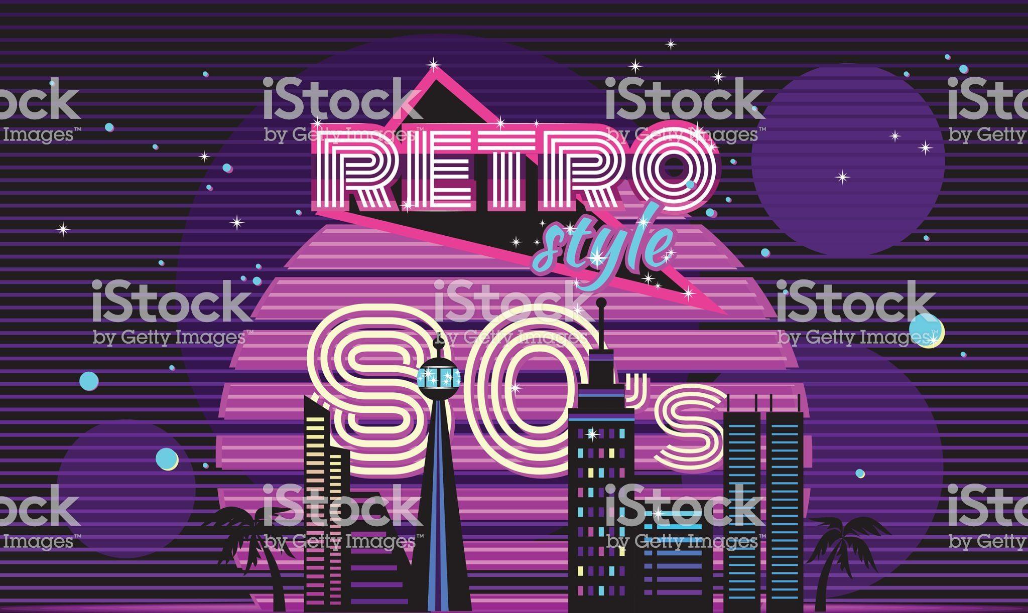 retro style 80s disco design neon 80s party 80s fashion 80s in