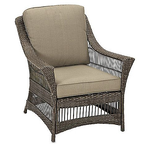 Savannah Wicker Club Chair in Sand - $300