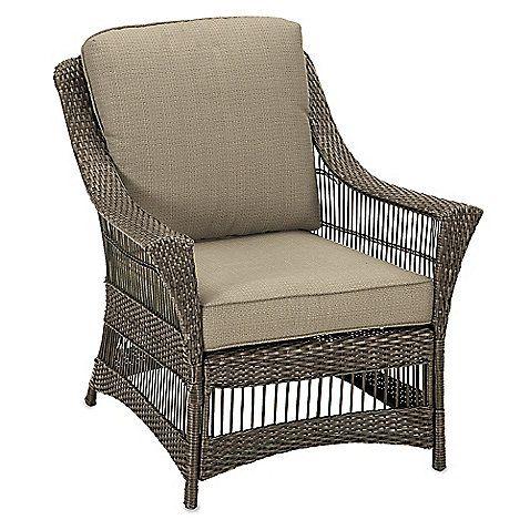 Savannah Wicker Club Chair in Sand $300 Outdoor Furniture
