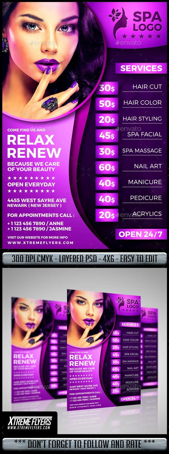 Beauty Salon Flyer | Salons, Flyer Template And Template