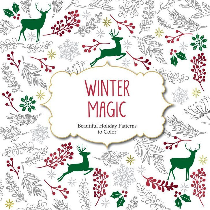 Pin for Later: The Essential Cold-Weather Holiday Gift Guide Winter Magic Adult Coloring Book Winter Magic: Beautiful Holiday Patterns Coloring Book for Adults ($8, originally $13)