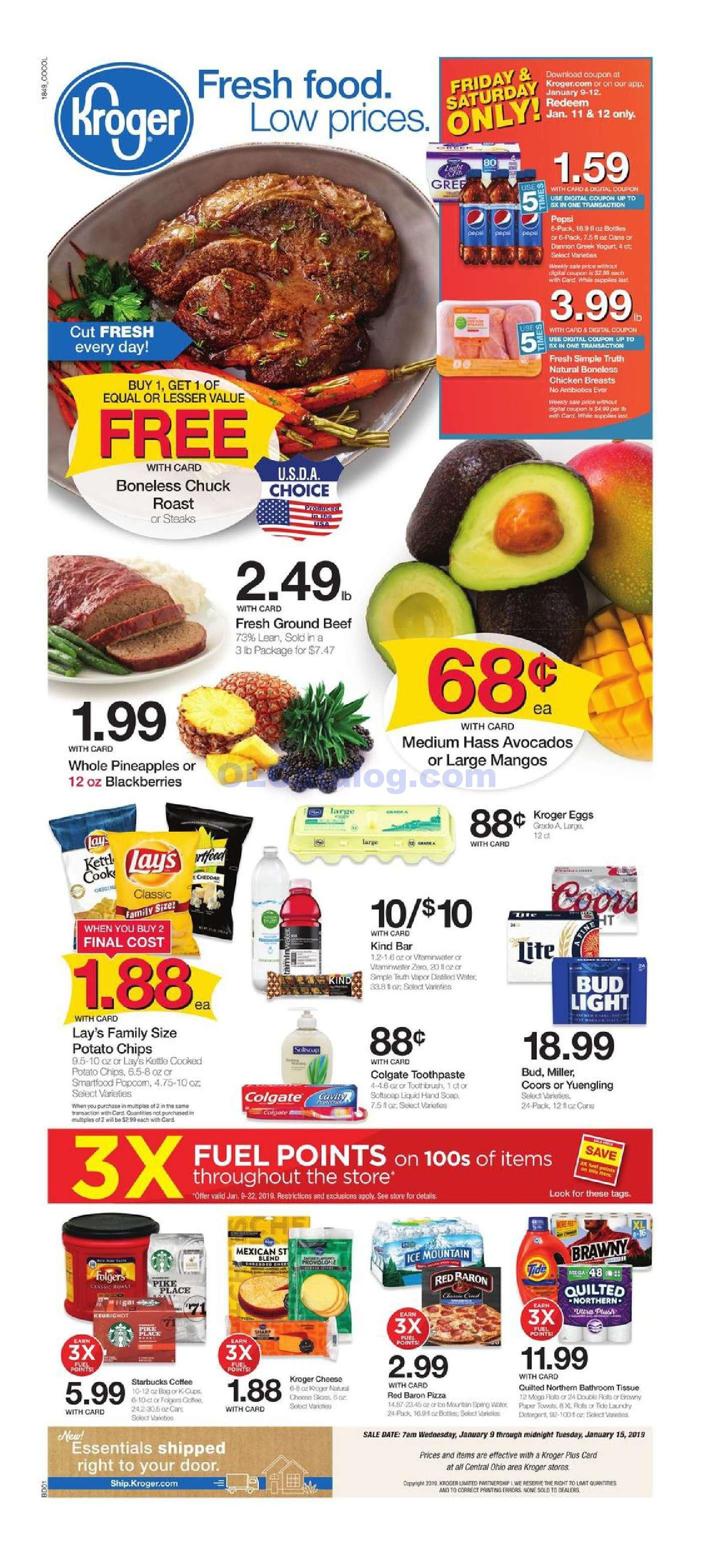 Kroger Weekly Ad January 9 15, 2019. Check Latest Kroger