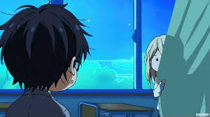 your lie in april kousei - I love this scene very much she said to him I'm glad it was you ♡
