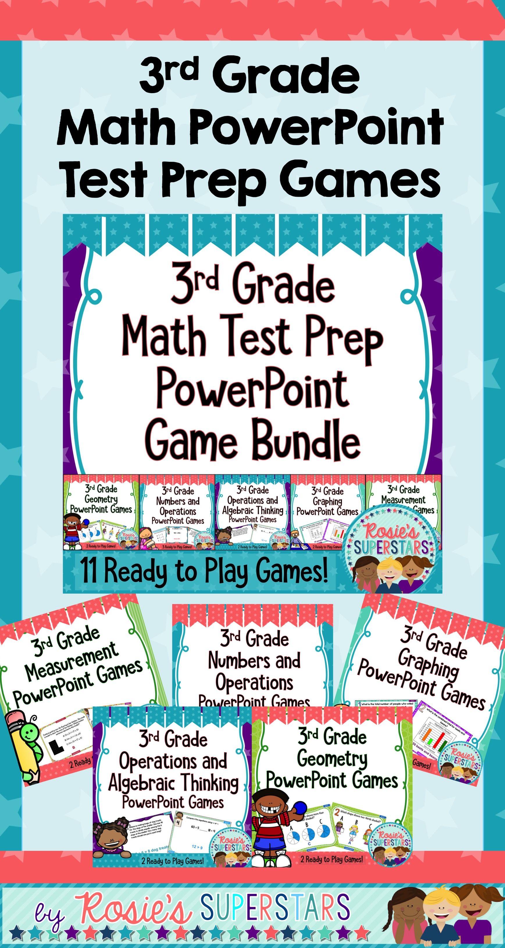 3rd Grade Math Test Prep Digital Game Bundle: 12 Games & 130 ...