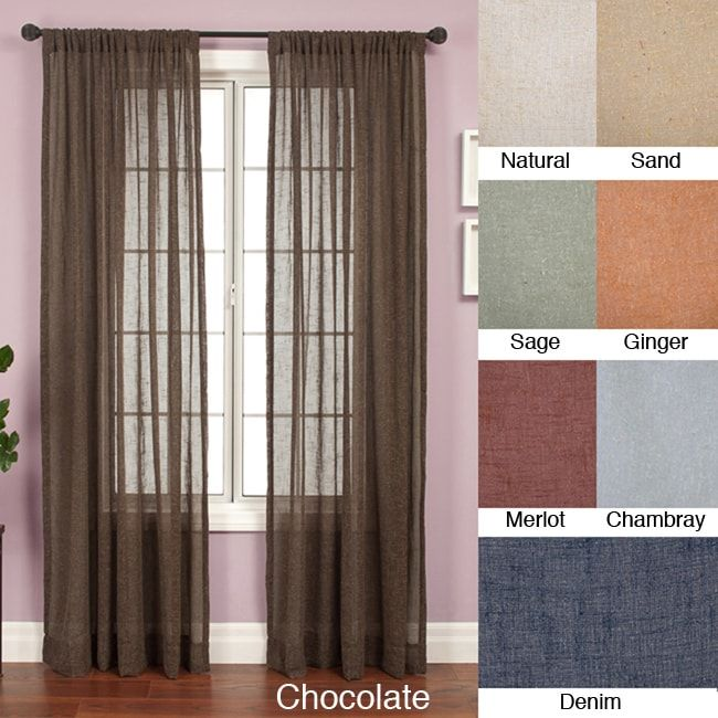 Softline Martinique Rod Pocket 84 Inch Curtain Panel 55 X 84