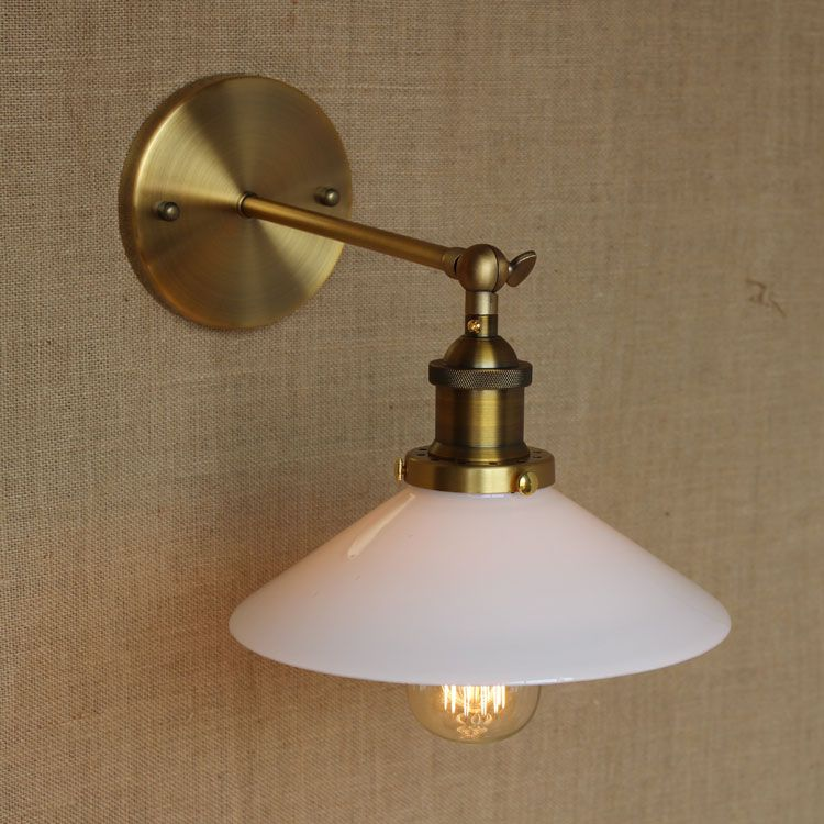 Led Lamps Nice White Glass Retro Wall Lights Fixtures Wandlampen Rustic Style Loft Industrial Wall Sconce Vintage Edison Appliques Pared Lights & Lighting