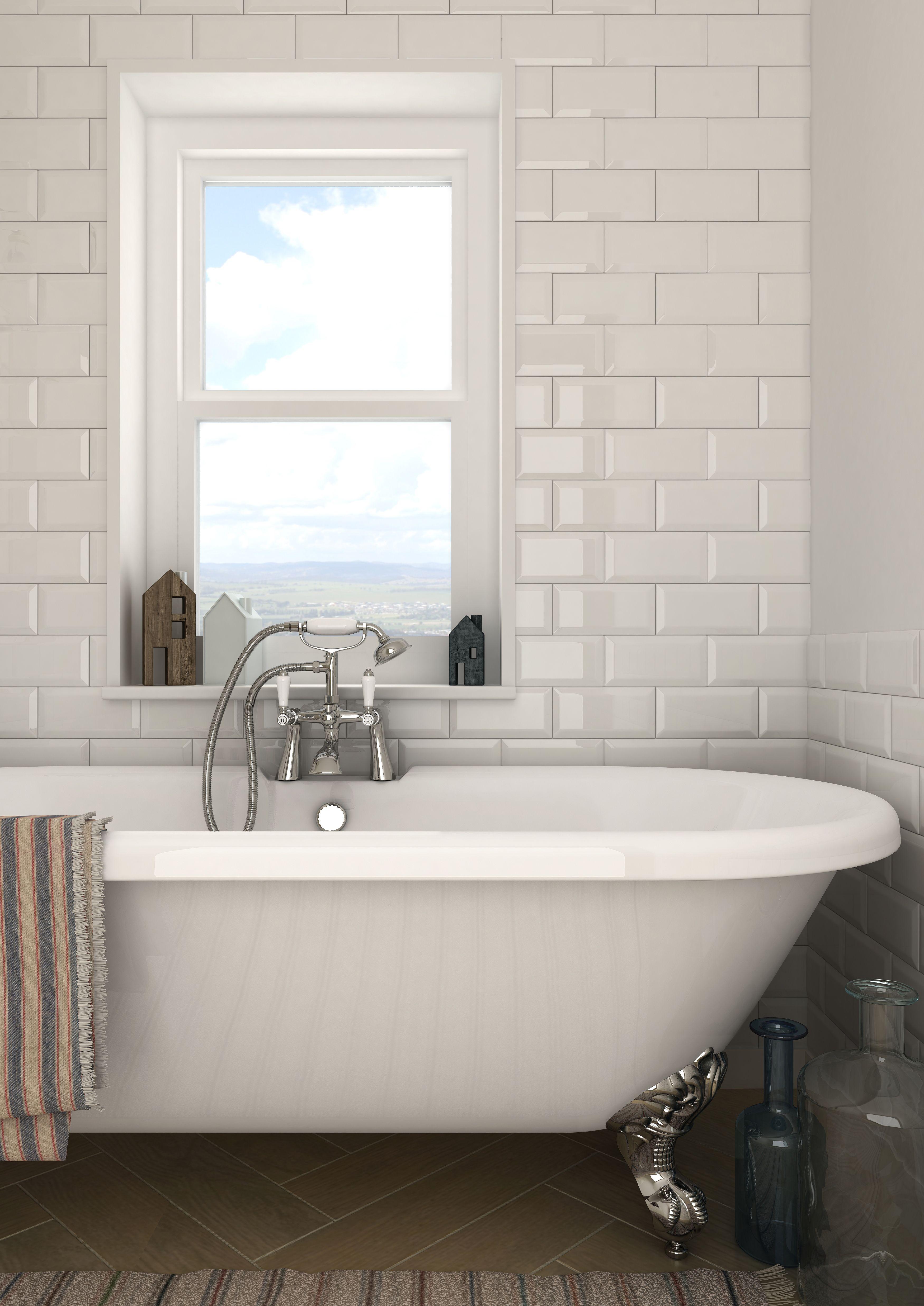 Victoria Metro Wall Tiles - Gloss White - 20 x 10cm | Pinterest ...