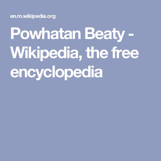 Powhatan Beaty - Wikipedia, the free encyclopedia