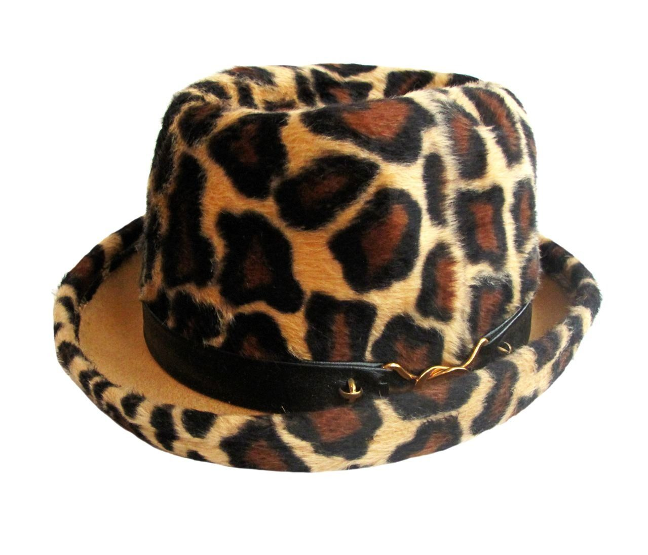 7b630768a A Rare YSL Vintage Leopard Print Hat Yves Saint Laurent   From a collection  of rare