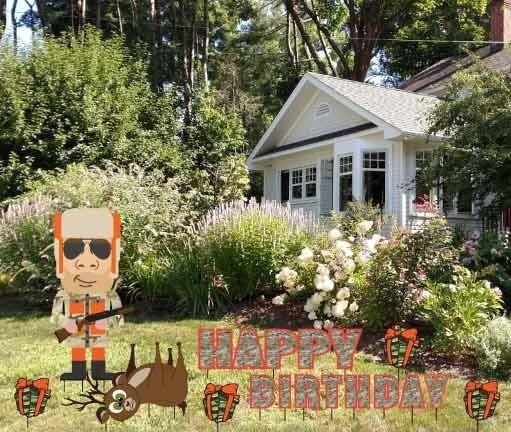 Birthday Yard Cards - Hunter Camo Happy Birthday Yard ...