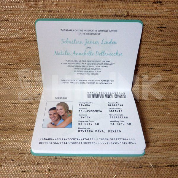 If You Are Going For A Travel Themed Wedding Passport Wedding Invitations Template Passport Wedding Invitations Passport Invitations