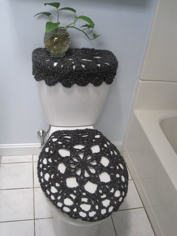 Set Of 2 Crochet Covers For Toilet Seat U0026 Toilet Tank Lid