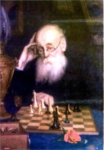Portrait of chess player A. D.  Petrova - Grigoriy Myasoyedov