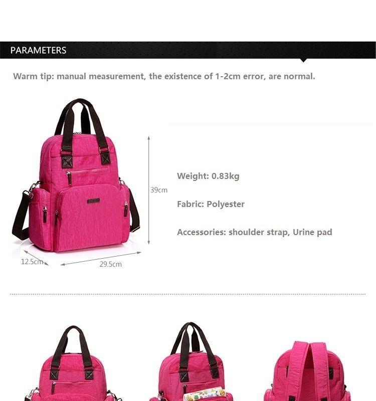 Fashion Mommy Diaper Bag Large Capacity Multi-functional Maternity Bag Pregnant Women Backpack Nursing Bag Baby Diaper Bag