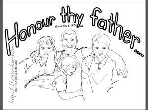 honour thy father exodus 2012 memory verse coloring page father relaxing