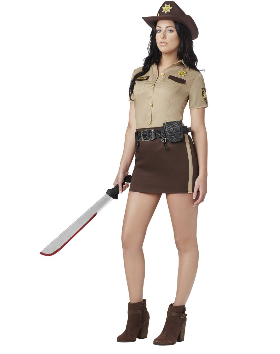 25d28c4ce50 The Walking Dead Sassy Rick Grimes Women s Costume exclusively at Spirit  Halloween - Take control of the group and lead them all to survival when  you sport ...