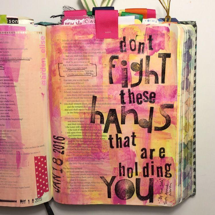 Bible journaling, Isaiah 41:13 — Arden Ratcliff-Mann #illustratedfaith