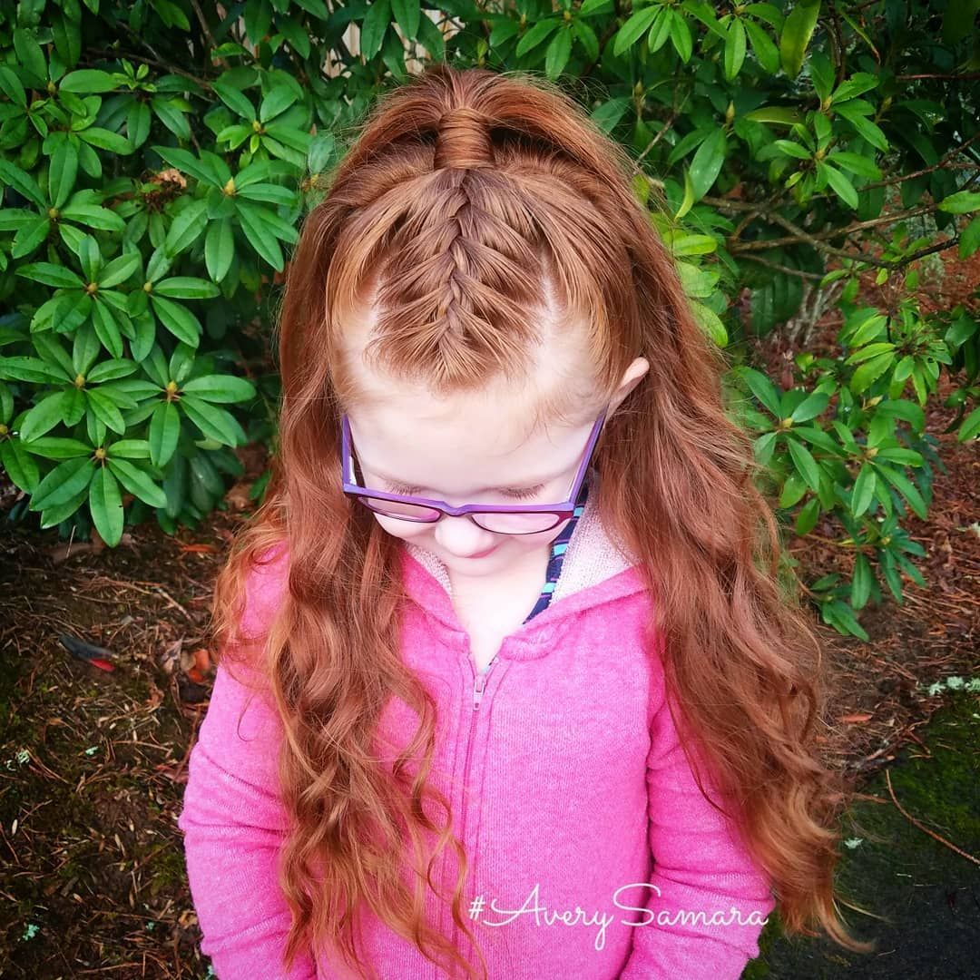 Top braid french braid high ponytail halfup hairstyle easy