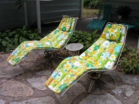 Retro Aluminum Patio Furniture homecrest vintage wire frame replacement cushions collection at