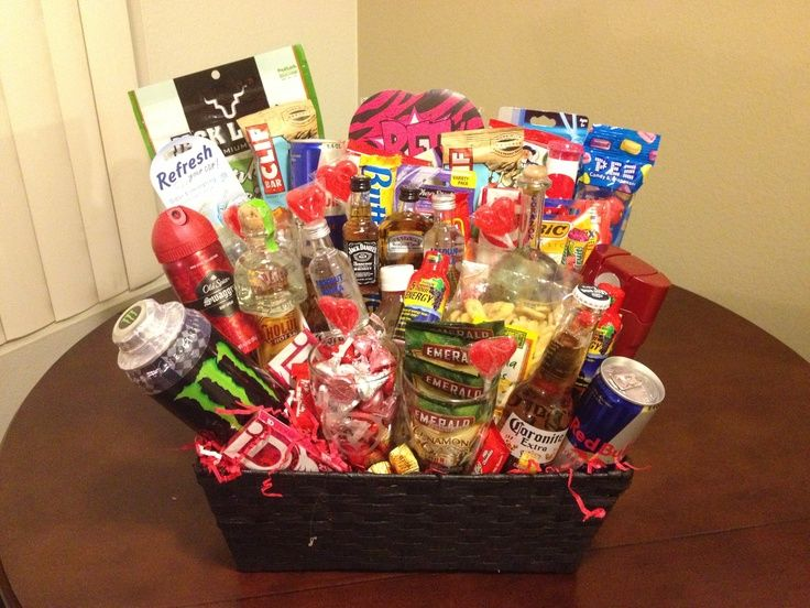 Bda2cf6e825b788d63201dcd9ad67fa0g 736552 food pinterest great idea for my boys baskets minus the alcohol negle