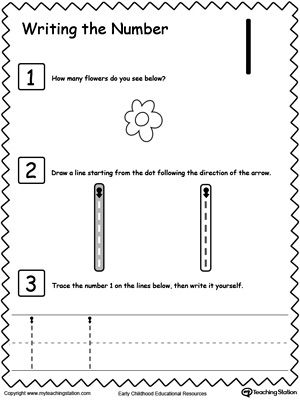 Preschool Writing Numbers Printable Worksheets | Preschool ...