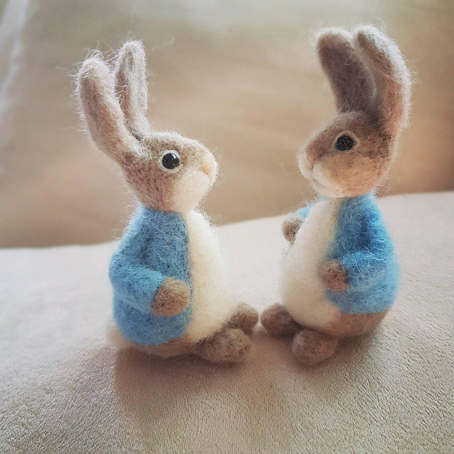 Felted bunny, Needle felted animal, Needle felted rabbit, Felted rabbit, Needle felted bunny, Rabbit toys, Rabbit doll, Rabbit lover gift #needlefeltedbunny