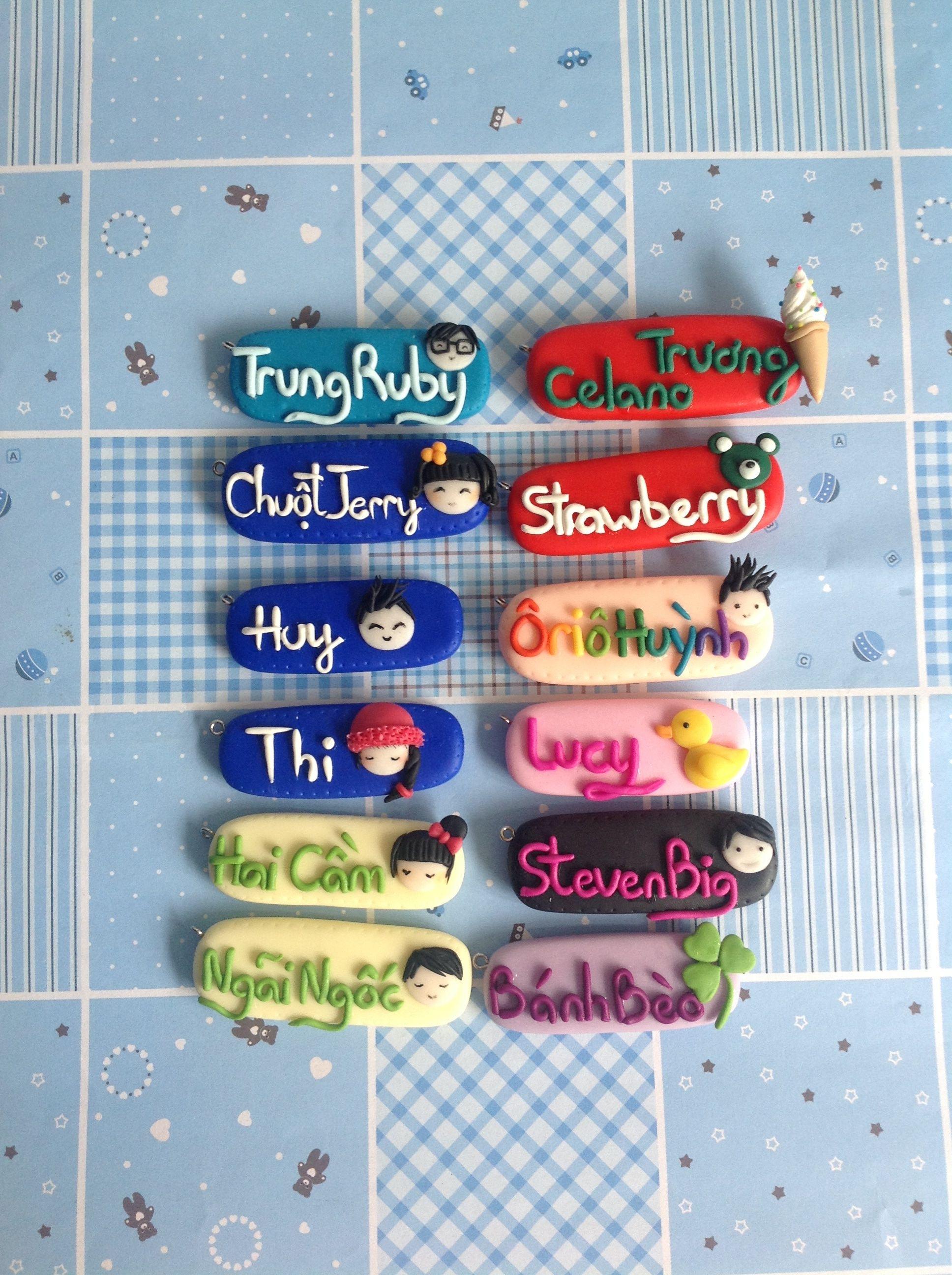 Polymer Clay Teacher Name Badges