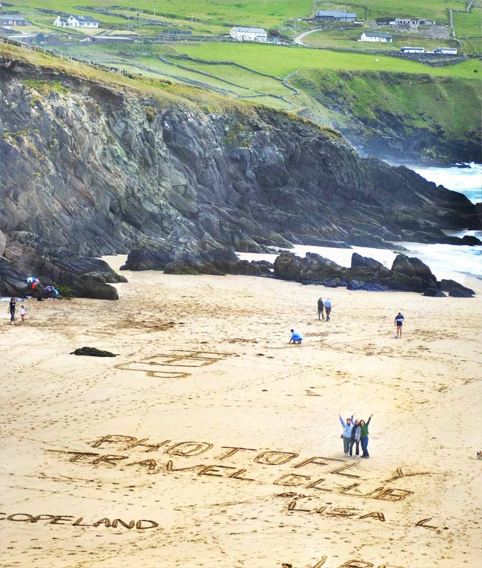 Our travel club on the beach in Ireland! #travel