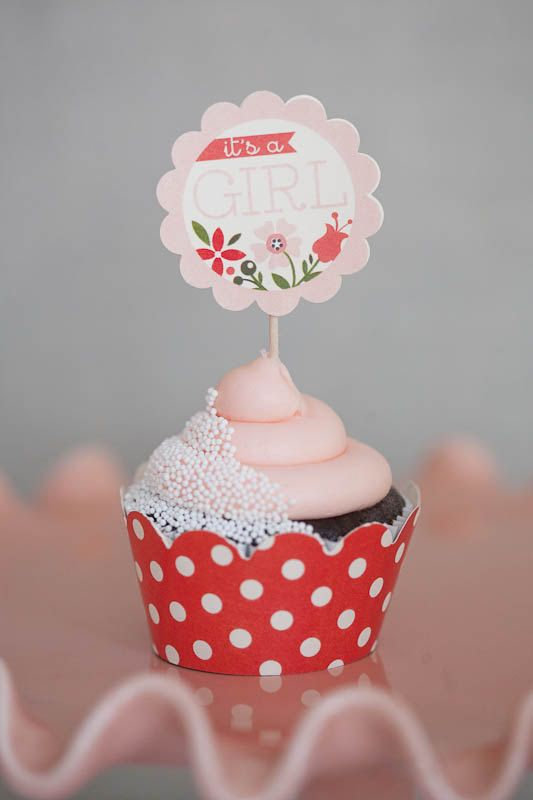 Baby Shower Decorations.. love the coral red against with ...