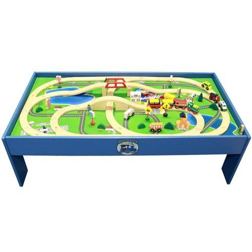 Conductor Carl 80 Piece Train Table and Playboard Set. 100% Compatible with Thomas the  sc 1 st  Pinterest & Conductor Carl 80 Piece Train Table and Playboard Set. 100 ...
