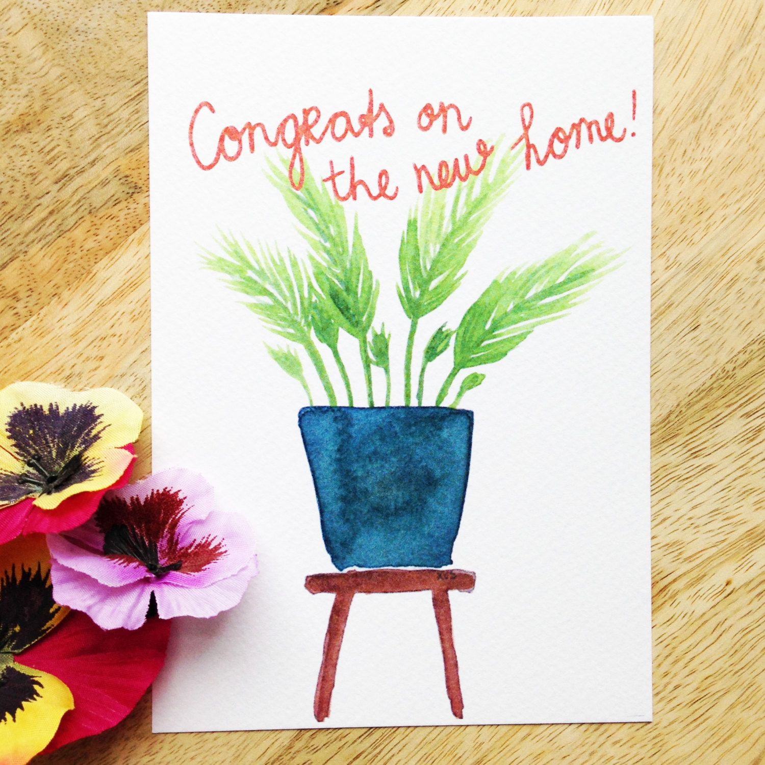 Congratulations on the new home postcard card wishes new congratulations on the new home postcard card wishes new house kristyandbryce Gallery