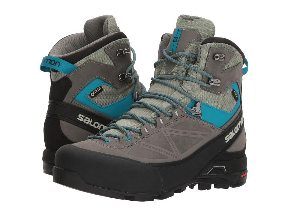 SalomonX Alp Mtn GTX Black Grey Blue Womens