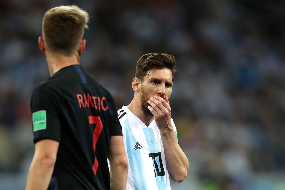 Fifa World Cup Russia 2018 Match Argentina Vs Croatia 0 3 Argentina Heavily Defeated Against Stronger Croatia 2018 Fifa Rus Messi Lionel Messi World Cup