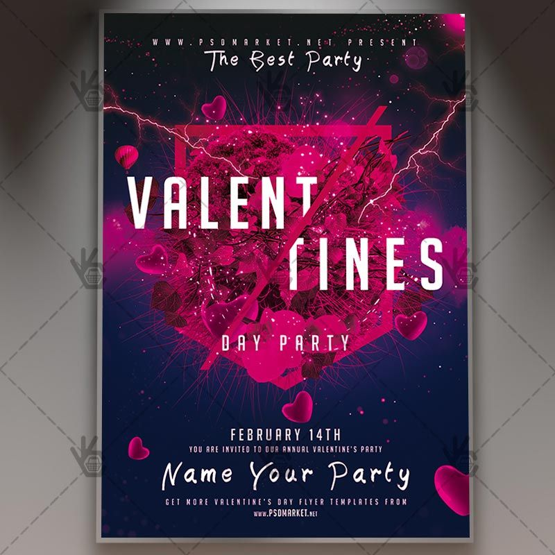 Valentines Day Event Club Flyer Psd Template Psdmarket Event Flyer Templates Event Flyer Flyer