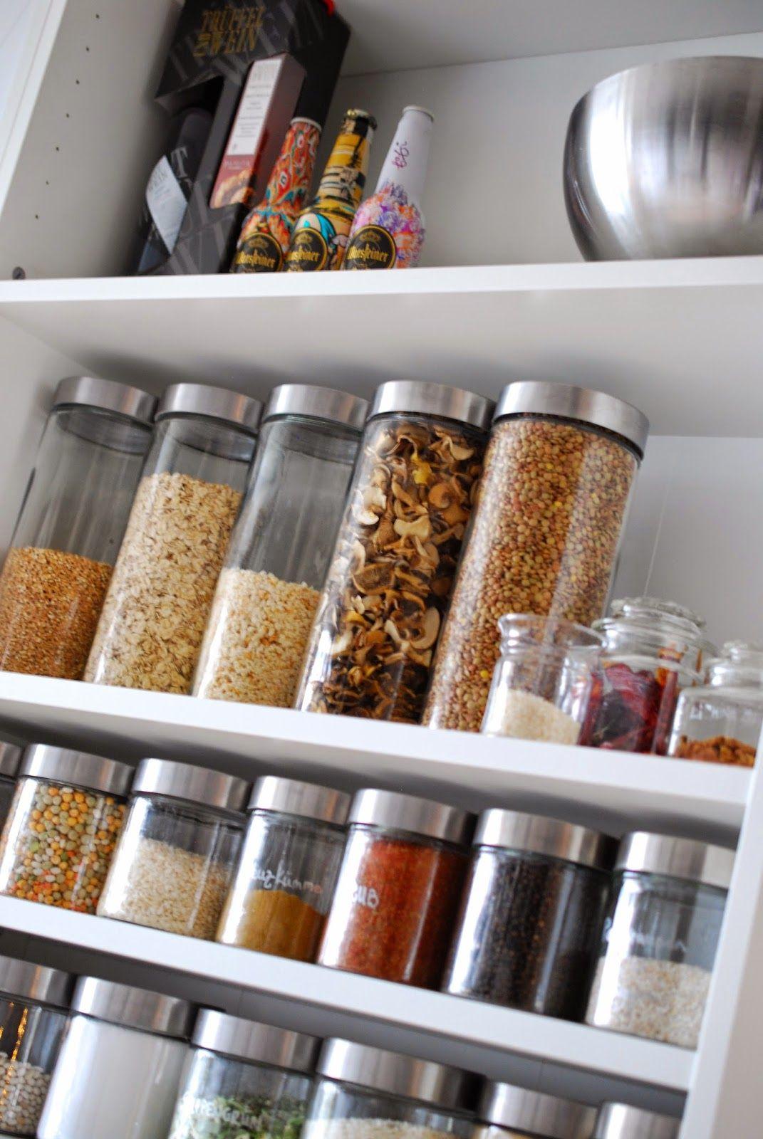 Vorratsschrank organisieren Speisekammer organisieren