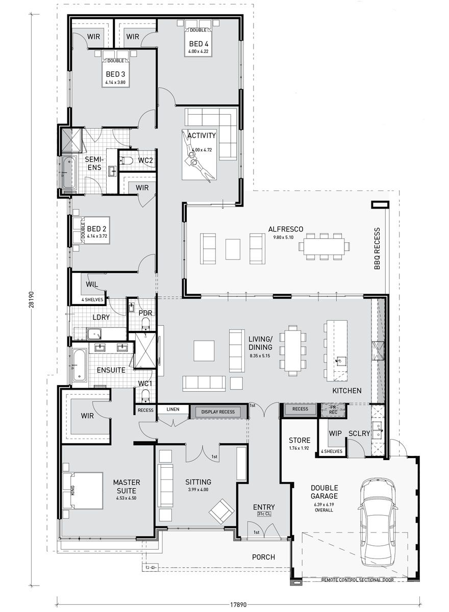 Floor Plan Friday Activity room adjoins bedroom wing