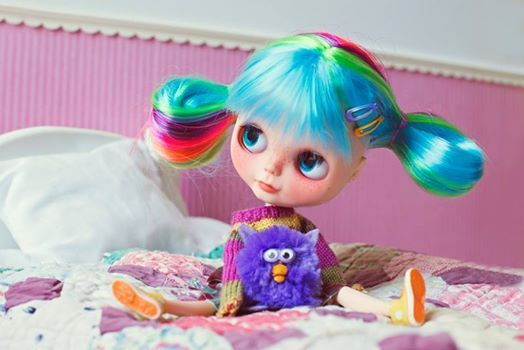 Cute Blythe Doll with Furby