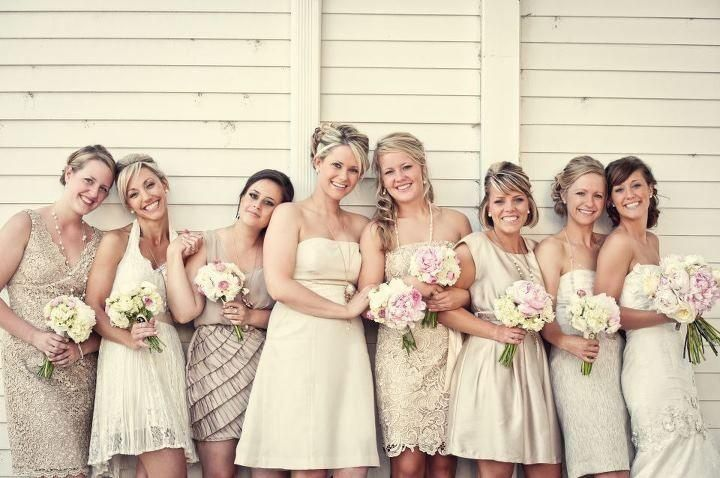 Muted Color Scheme/Bridesmaids Dress colors?? | Champagne ...