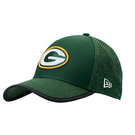 NEW ERA NEW ERA GREEN BAY PACKERS NFL TRAINING MESH 39THIRTY FLEX HAT.   newera   6237ad80f57