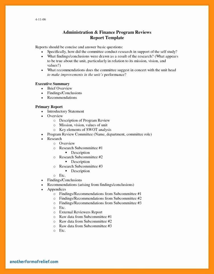 Summary Report Format Elegant 9 10 Samples Of Executive Summary